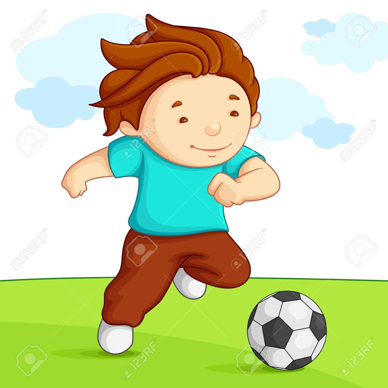 Playing-soccer